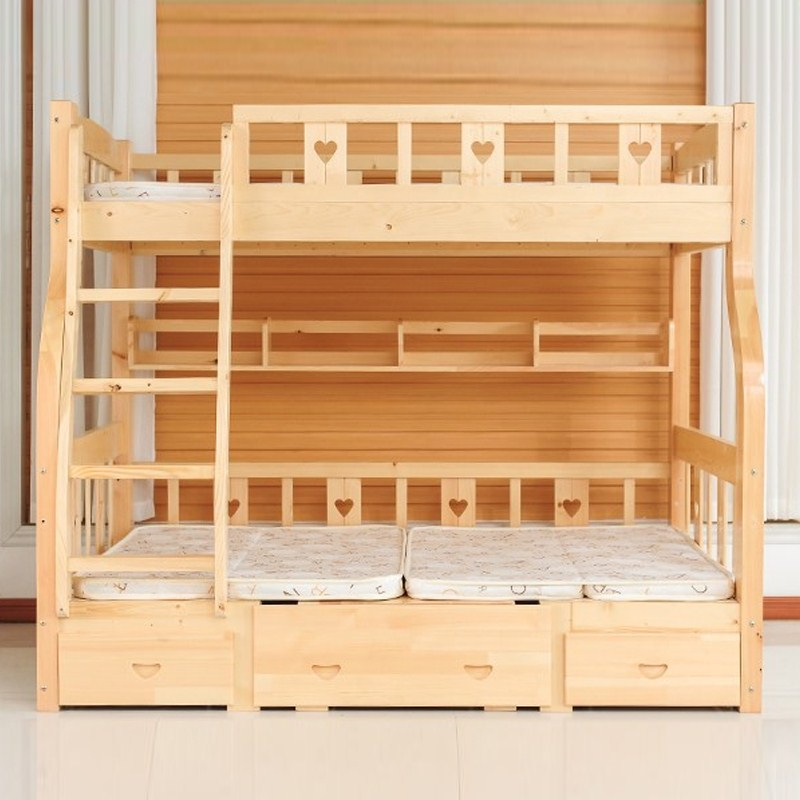 Low bed with low bed bed bed desk children mother ladder cabinet bed double bed iron bed Mediterranean high 1.5