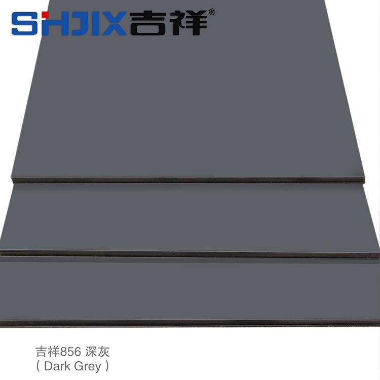 La suerte de la venta directa de la fábrica de aluminio 3mm8 de seda gris oscuro / dentro de la pared exterior de la pared la pared decorativa de la publicidad