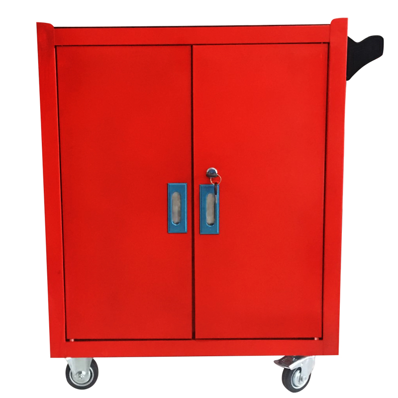 金属の自動車修理工具箱重錠前付きの鉄のスーツケースの多機能携帯三層部品カート包郵