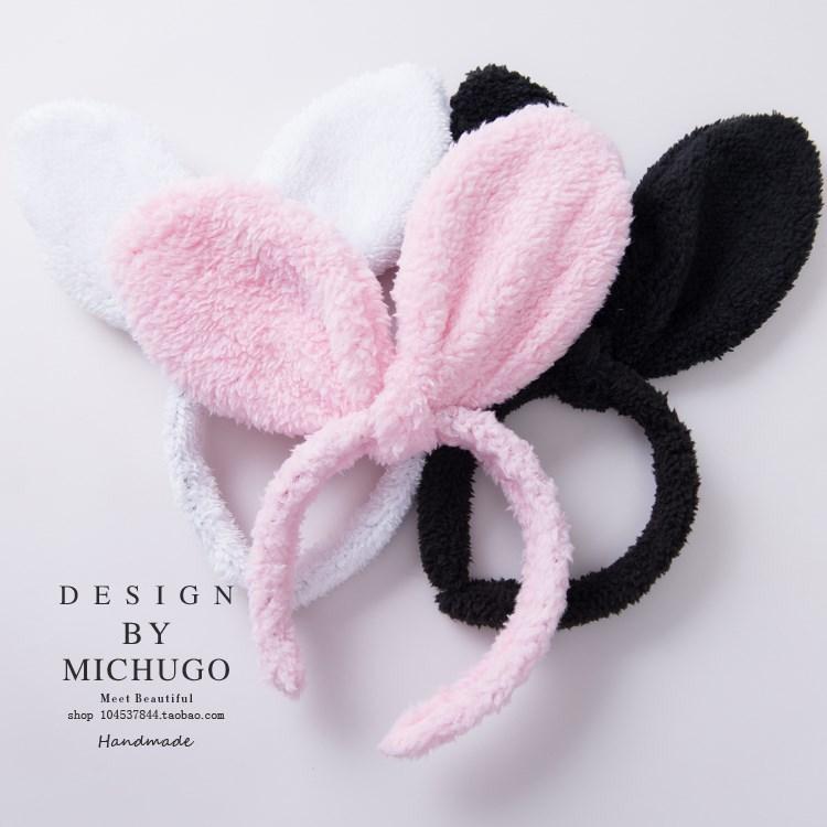 Южная Корея шпилька заколка сладкий милый кролик уши мыть волосы бортом обруч на голову маски с шпилька само время украшения