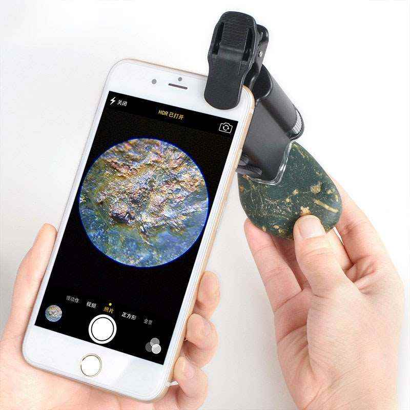 Handheld LED lamp antique electronic microscope portable mobile phone magnifying glass professional porcelain high power special wireless