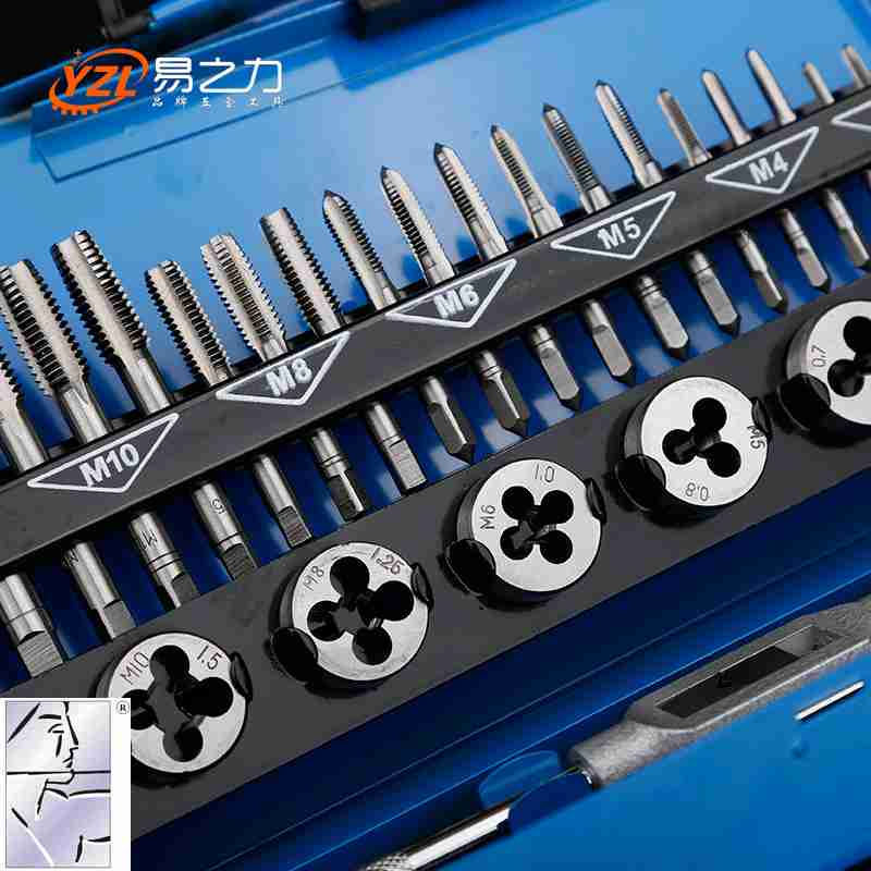 Easy force metric tap and die set screw tapping device with manual hand tapping wrench wrench hardware 9042