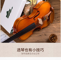 Master grade all hand made solid wood violin professional class for children and adults pure manual performance European material solo