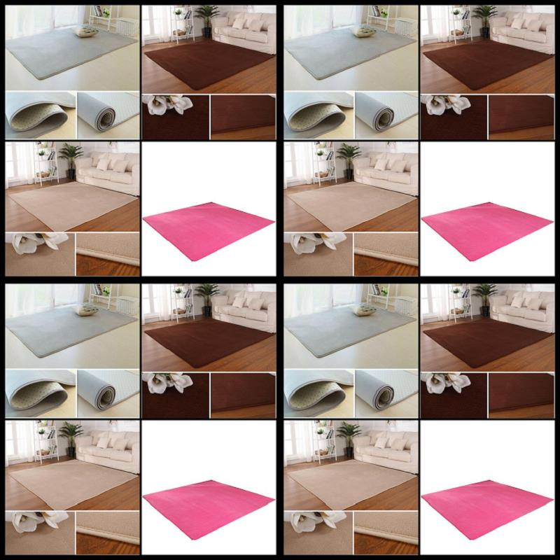 Simple thickened coral velvet carpet paved the living room coffee table bedroom bedside lovely tatami mats can be customized
