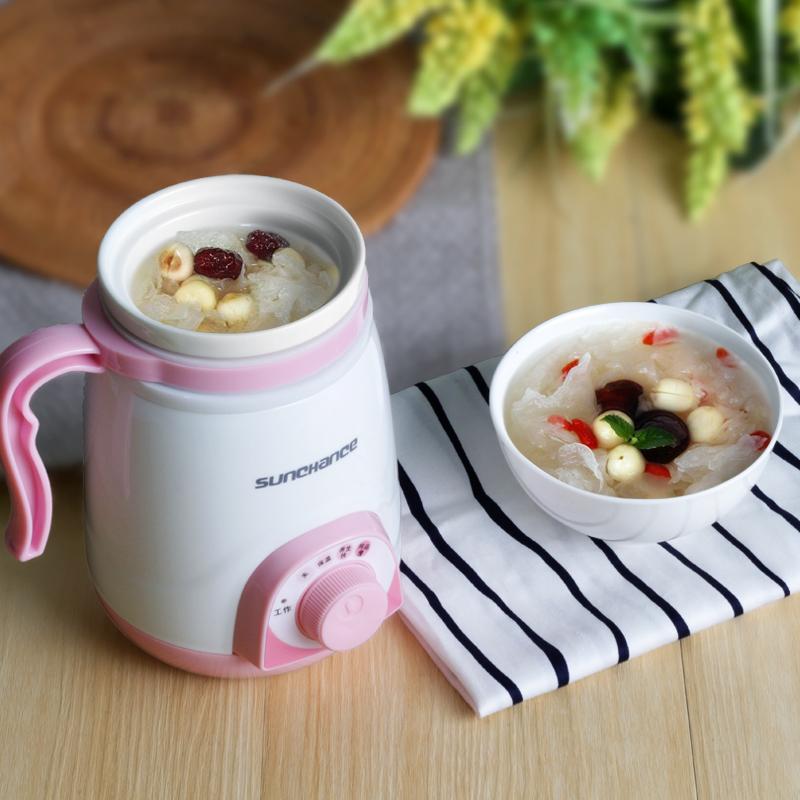 La taza de agua hirviendo una taza de taza de guiso de poder dividir el Mini de salud. La Oficina de la taza de sopa de gachas de calefacción eléctrica