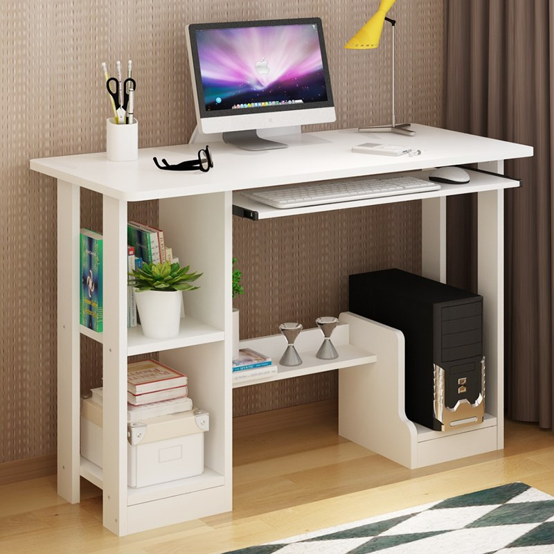 Computer desk desk family simple modern learning table with bookshelf student combination table children's book table Taiyuan