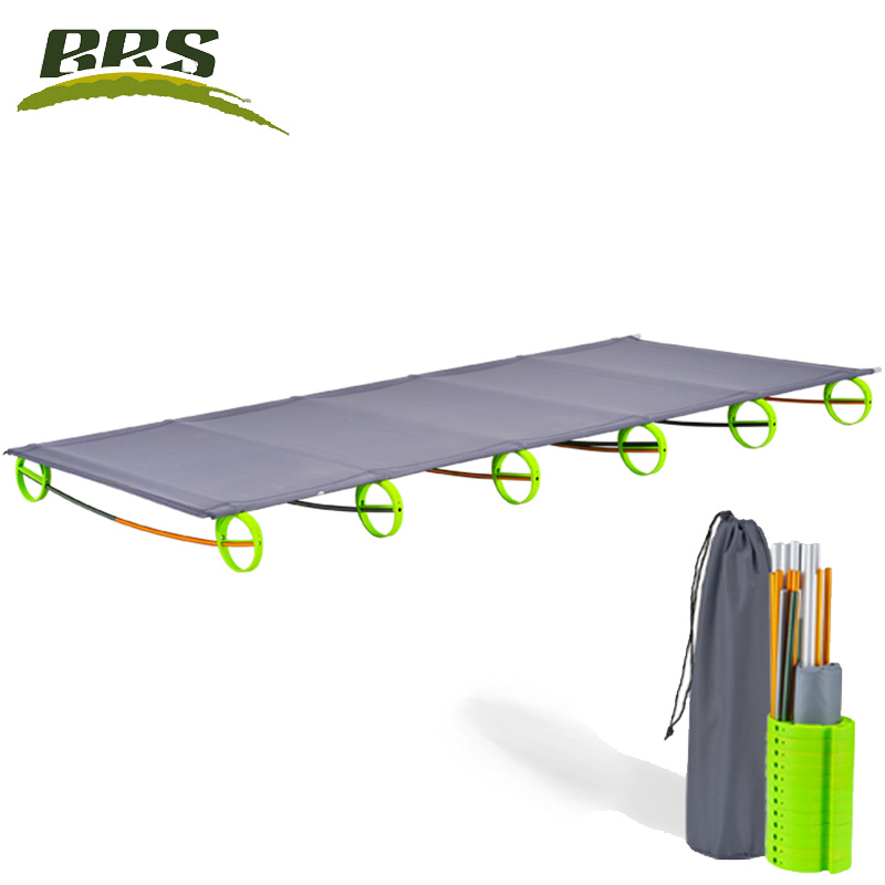 Brothers outdoor aluminum folding bed camp / Office / lunch / Camping damp proof portable bed BRS-MC1