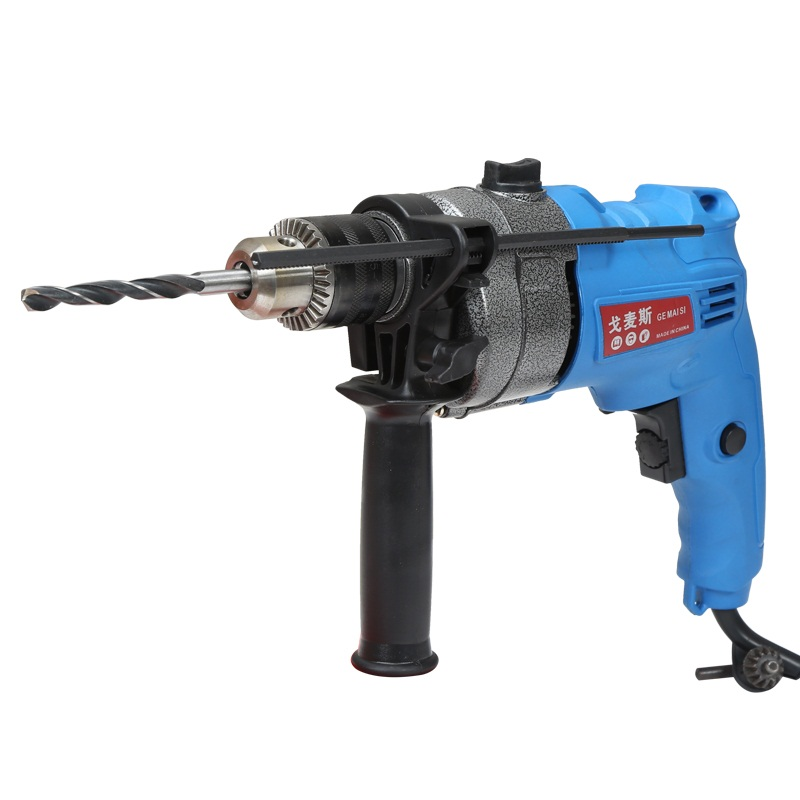 Electric impact drill multifunctional electric screwdriver drill hammer two pistol drill decoration hardware kit