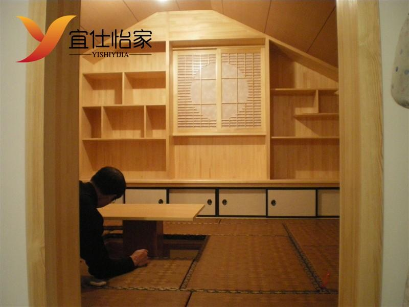 The Japanese tatami wood attic custom multifunctional m bed bedroom Tatami custom study