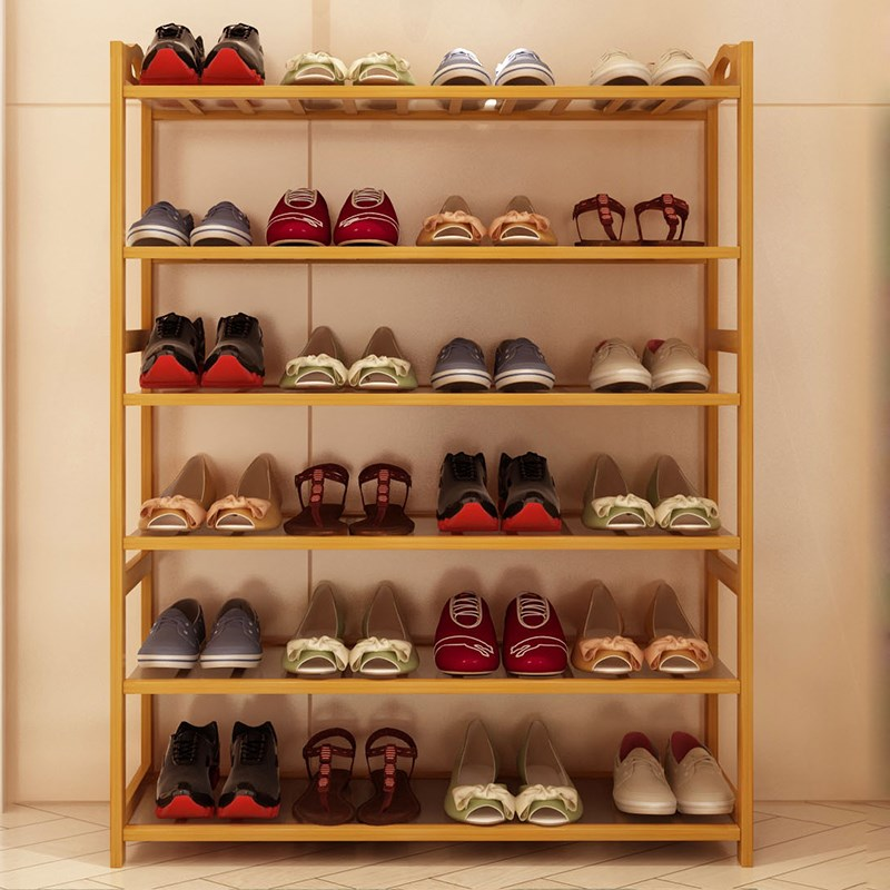 Shoe shoes stool shoe wood simple modern economy can sit in front of the living room of multilayer simple household shoe rack