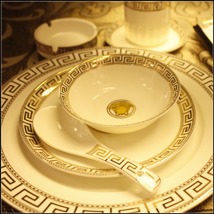West Lake creative catering kitchen ceramic disc bowls star hotel luxury hotel rooms bone china tableware table