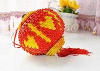 수공 삼각 꽂다 재료 어린이 손으로 종이접기 DIY 종이접기 재료 초롱을 종이접기 초롱을 재료