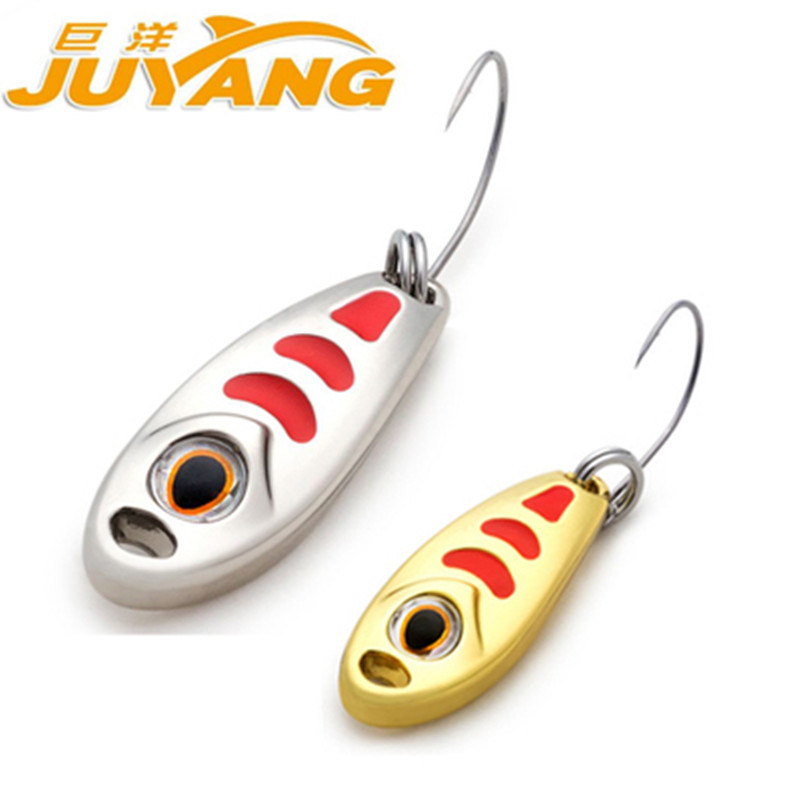 The giant ocean lures on the small stream tin single hook bait bait culter sequins white sequins