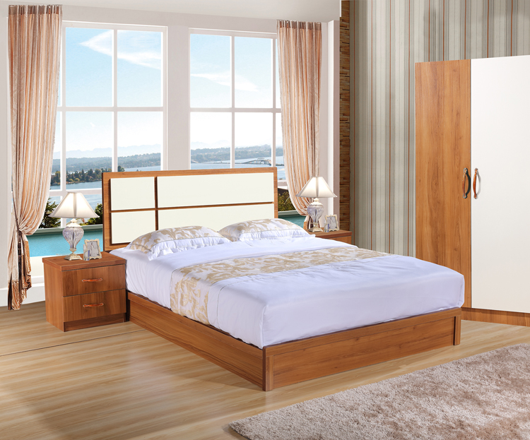 Chengdu modern minimalist bed bedroom bed furniture bed 1.2-1.5-1.8 meter bed plate bed double bed 8-3#