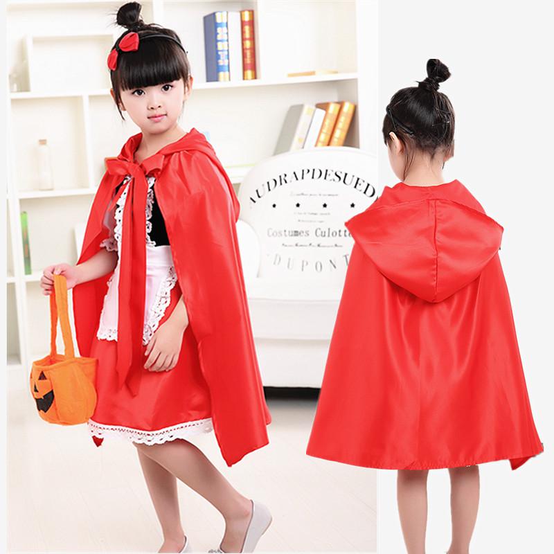 万圣节儿童cosplay服装幼儿化妆舞会演出服女童小红帽披风公主裙