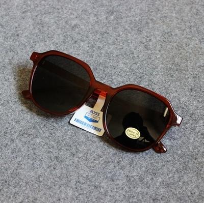 古着80.s VINTAGE日本复古茶色透明太阳镜墨镜男女复古眼镜