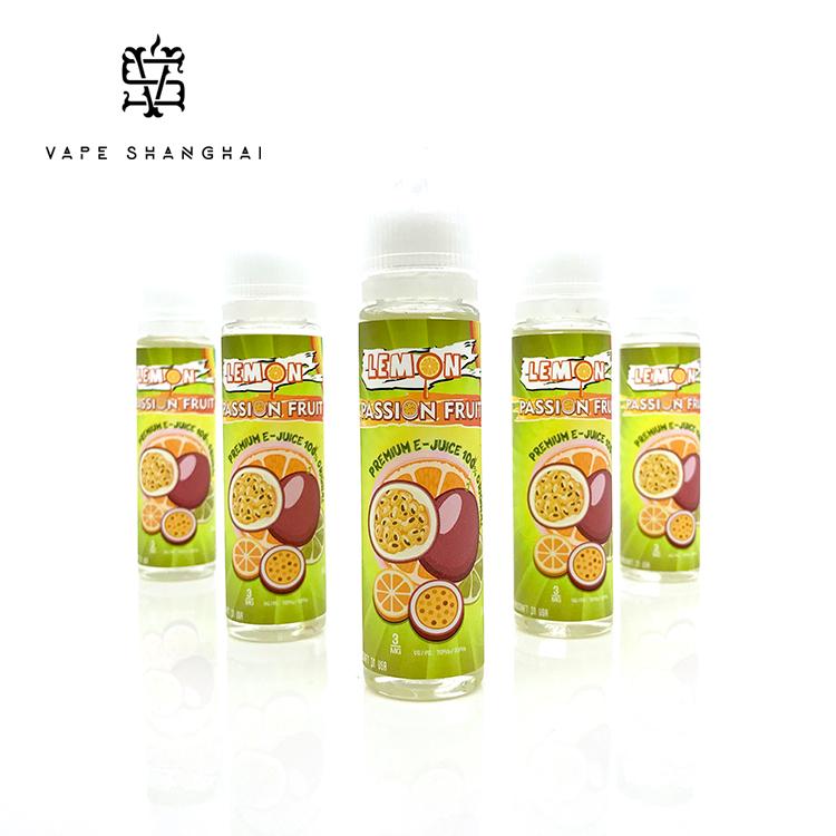 США на импорт Аутентичные маракуйя лимона лимон маракуйя табачного дыма жидкости электронная сигарета фруктовый вкус 60ml