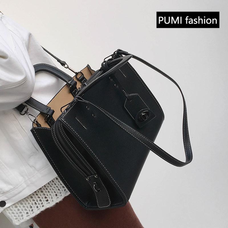 简约大包包2017新款欧美时尚托特女包复古百搭手提包休闲单肩包潮