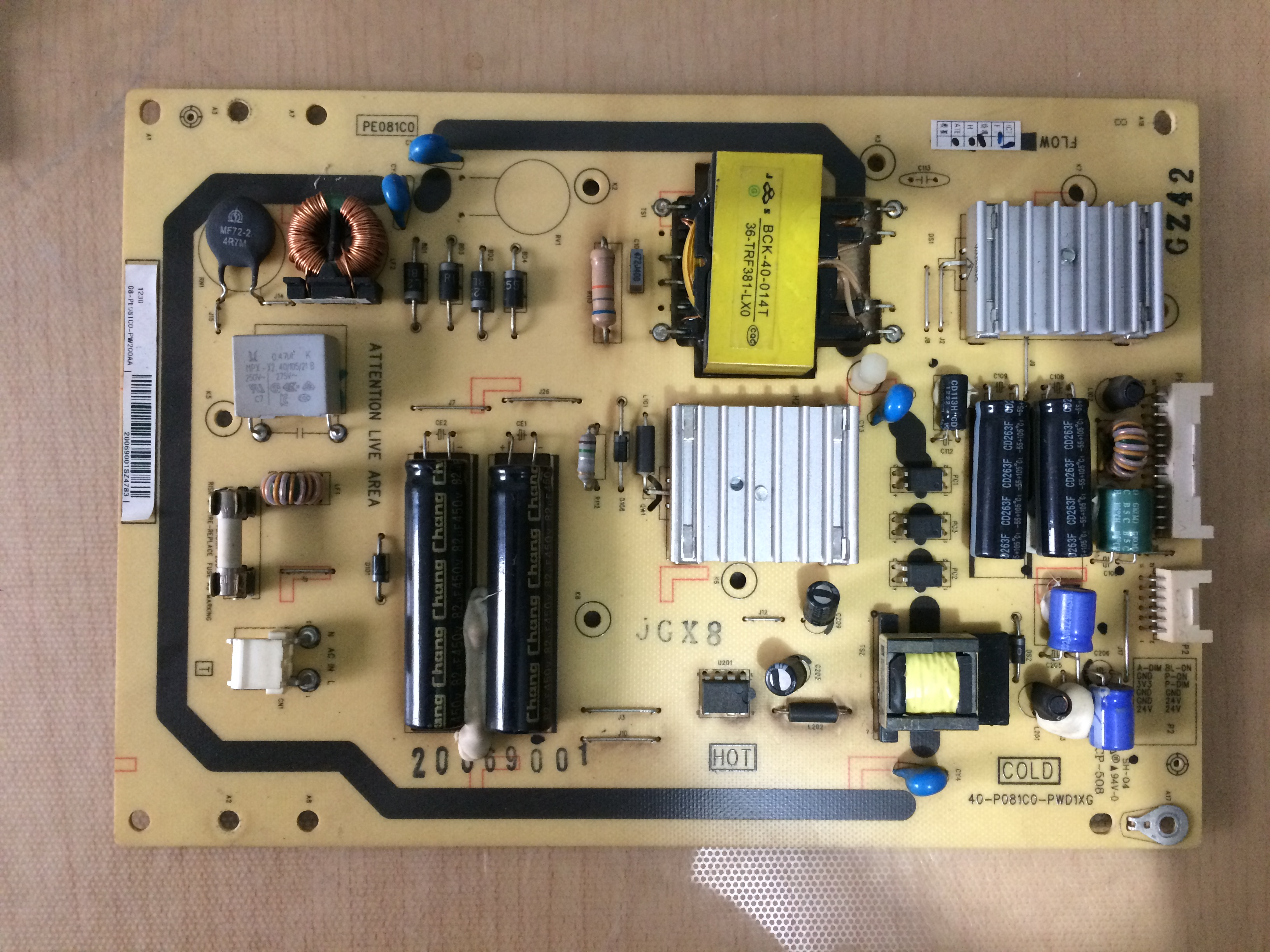 TCL LCD TV L32E5000E power board 40-P081C0-PWD1XG
