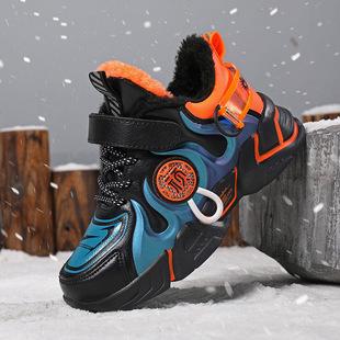 棉鞋男童运动鞋2020冬季加绒中大童儿童皮面保暖休闲时尚鞋潮童鞋