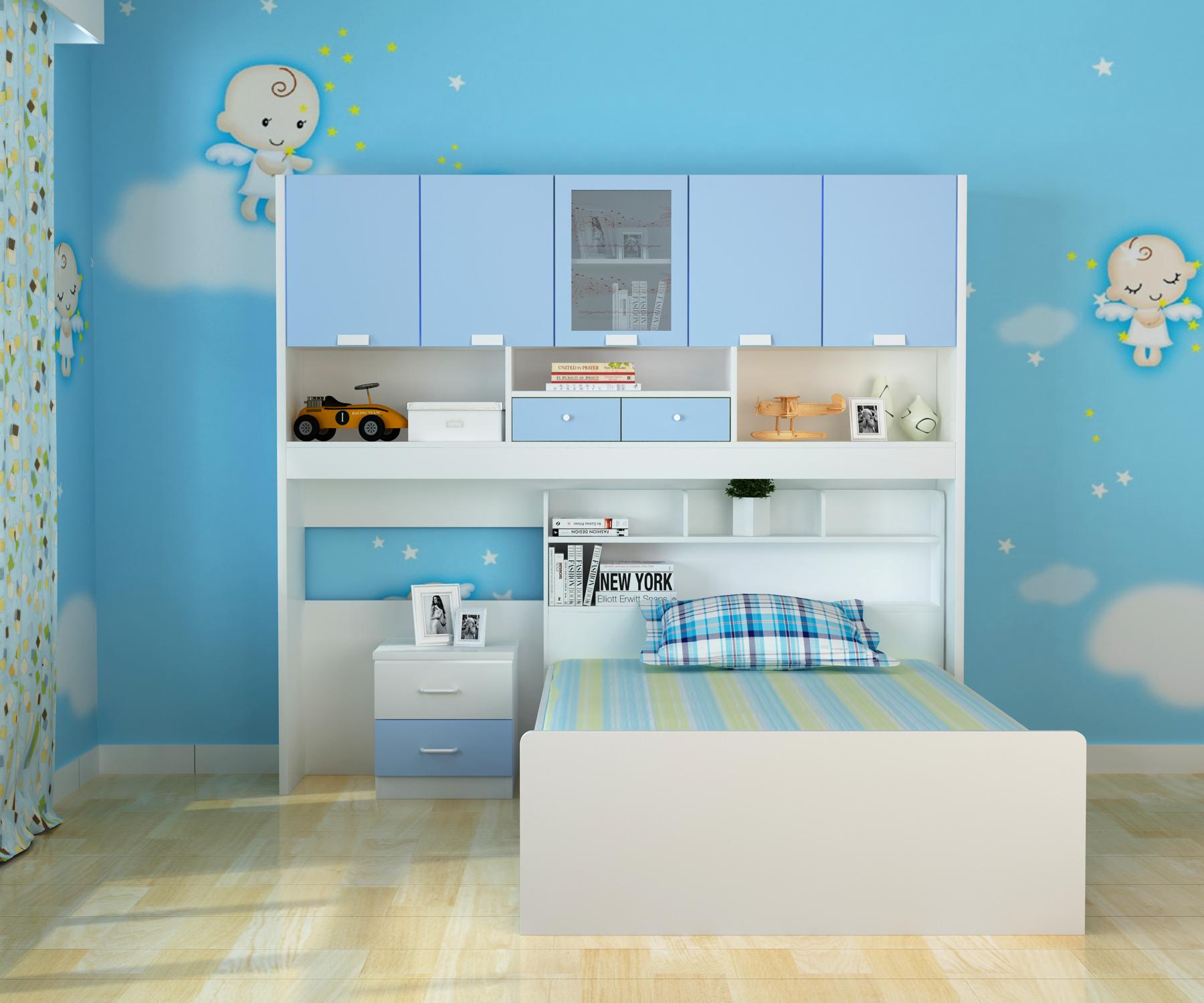Förderung der Kinder neUe doppel - Bett der Mutter im Bett Bett multifunktions - schrank, Bett MIT bücherregal aus dem Bett kombiniert.