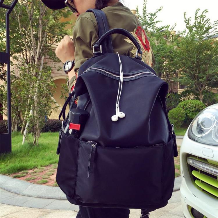 双肩包女牛津布韩版学院风时尚百搭防水旅行背包女大容量学生书包