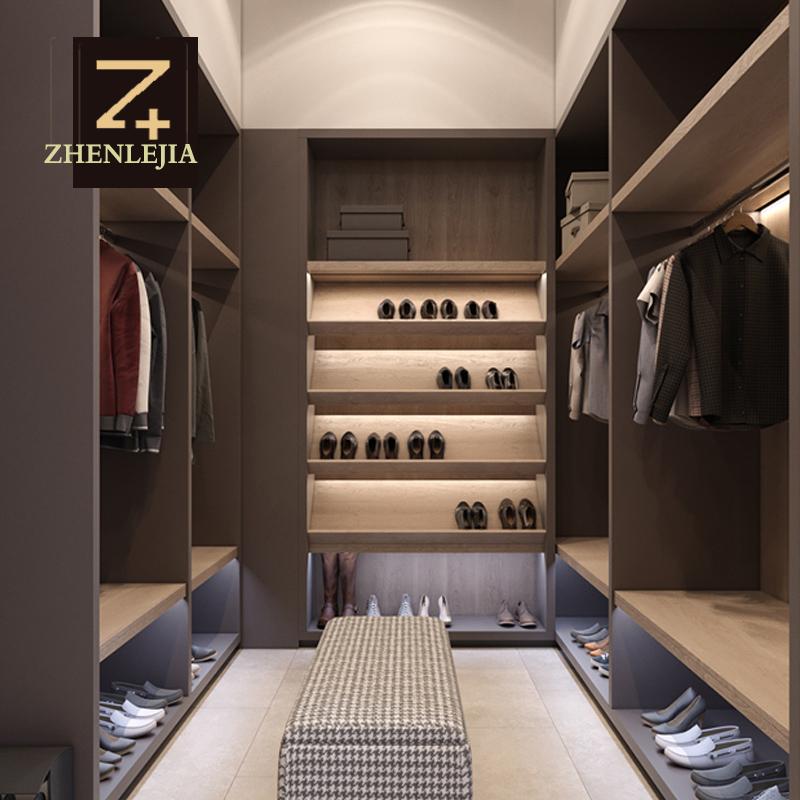 臻乐家衣柜定做整体欧式实木衣帽间原木全屋定制卧室推拉门步入式
