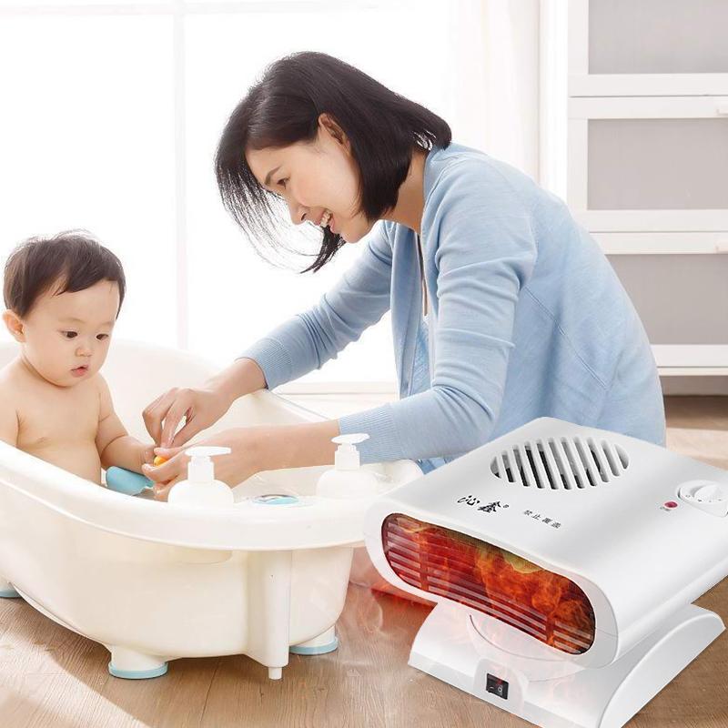 Qin Xin de chauffage soufflant de l'air chaud de salle de bains domestique petit soleil de chauffage électrique de chauffage rapide, économe en énergie de chauffage et de refroidissement à double fonction de bureau