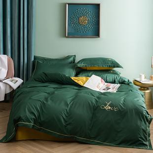 四件套全棉纯棉1.5米床上用品少女心秋冬单双人简约床单被套1.8m