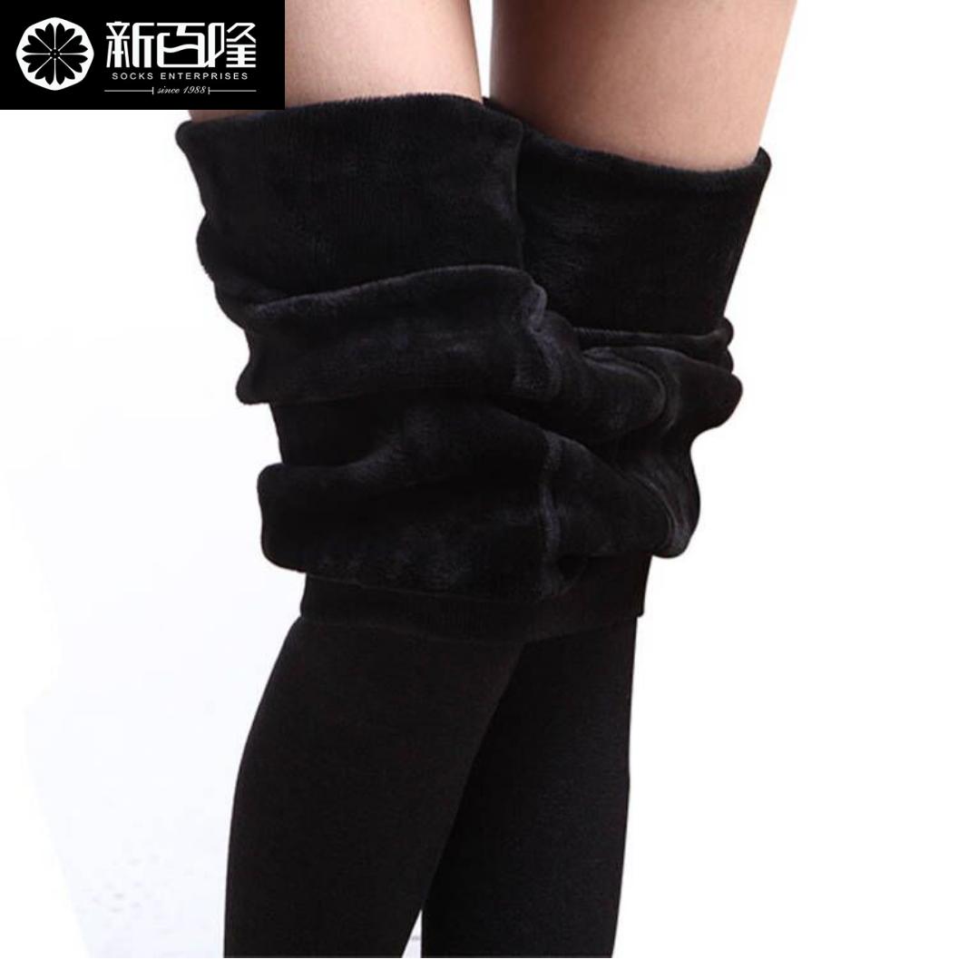 【天天特价】新百隆加绒加厚款冬季保暖打底裤 连体一体裤连脚裤