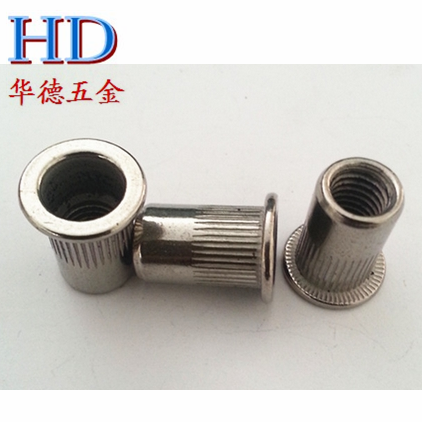 Rivet nut riveting nut material 304 stainless steel rivet nut flat head rivet nut column grain pull cap