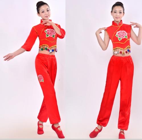 七分袖s東北秧歌服演出服女好日子秧歌舞蹈服民族腰鼓舞蹈開門紅表演服