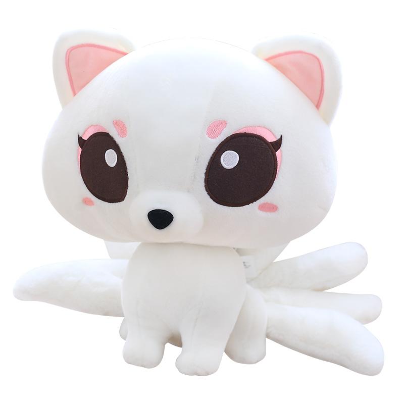 白淺17厘米(7寸)正版三生三世十里桃花夜華白淺九尾狐迷谷公仔毛絨玩具抱枕布娃娃