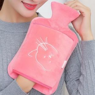 包邮橡胶注水热水袋防爆冲水暖水袋暖宫卡通