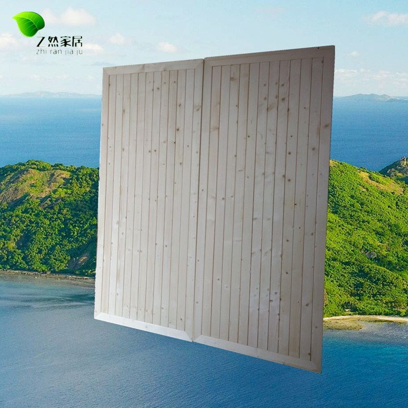 松木硬枚の板折りたたみ列骨格シングル1 . 5ペア1 . 8メートルの幅を広くする全木造した塗装板