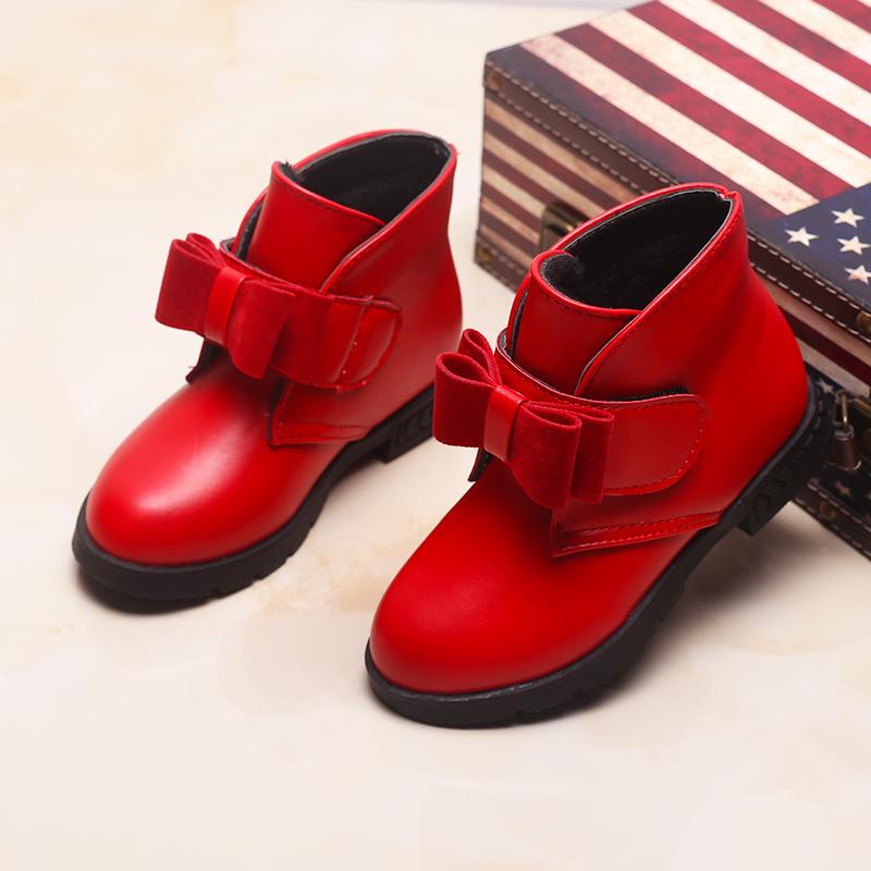 3到11岁5儿童6冬季7小孩8女童鞋9韩版10公主保暖皮鞋女孩短靴子