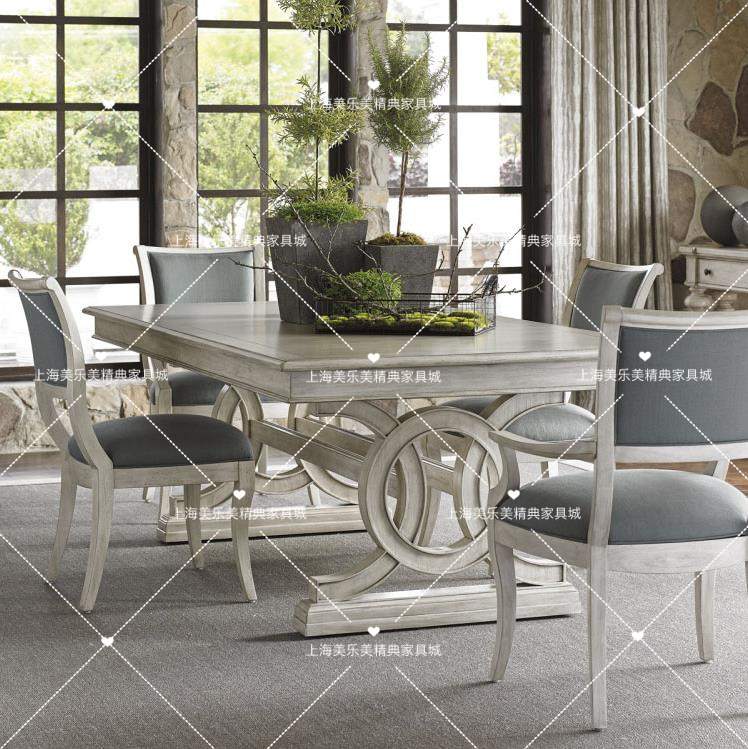 Table en bois européen américain village français faire vieux restaurant table table Villa combiné siège personnalisable