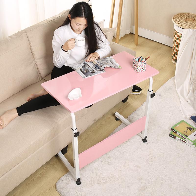 简易简约笔记本电脑桌家用床上移动桌子升降书桌简单学习写字桌子
