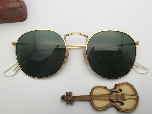 New sunglasses RB3447 001 green film for men and women
