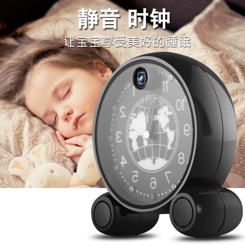 الساعة الذكية الهاتف المحمول واي فاي اللاسلكية طفل بعد كاميرات المراقبة المنزلية للرؤية الليلية هد ميني المخفية