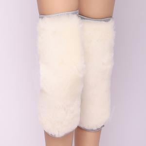 男女通用舒适真皮羊绒毛一体护膝 纯羊绒毛  加厚护膝抗风保暖