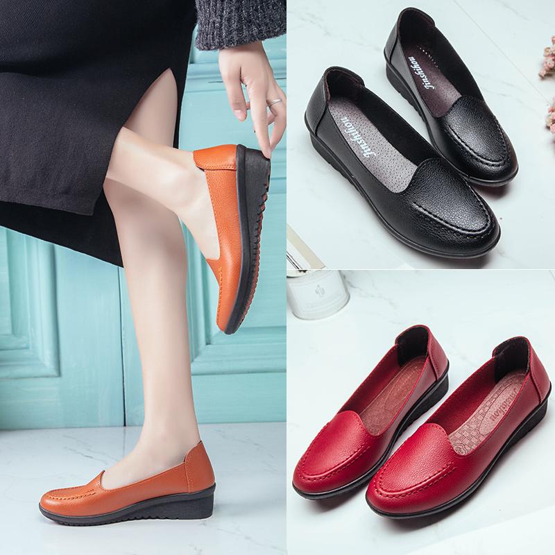夏季中年媽媽鞋軟底平