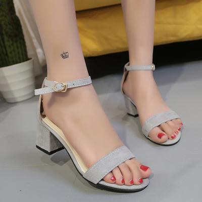 灰色(露趾款5cm)