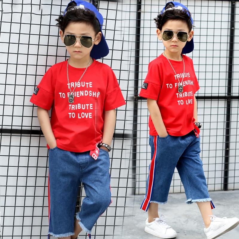 6男童夏装7短袖套装8中大童9夏季10宝宝11男孩两件套12儿童装15岁
