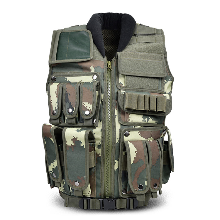 户外战术马甲军迷迷彩背心男作战可插钢板战术马甲CS安保装备