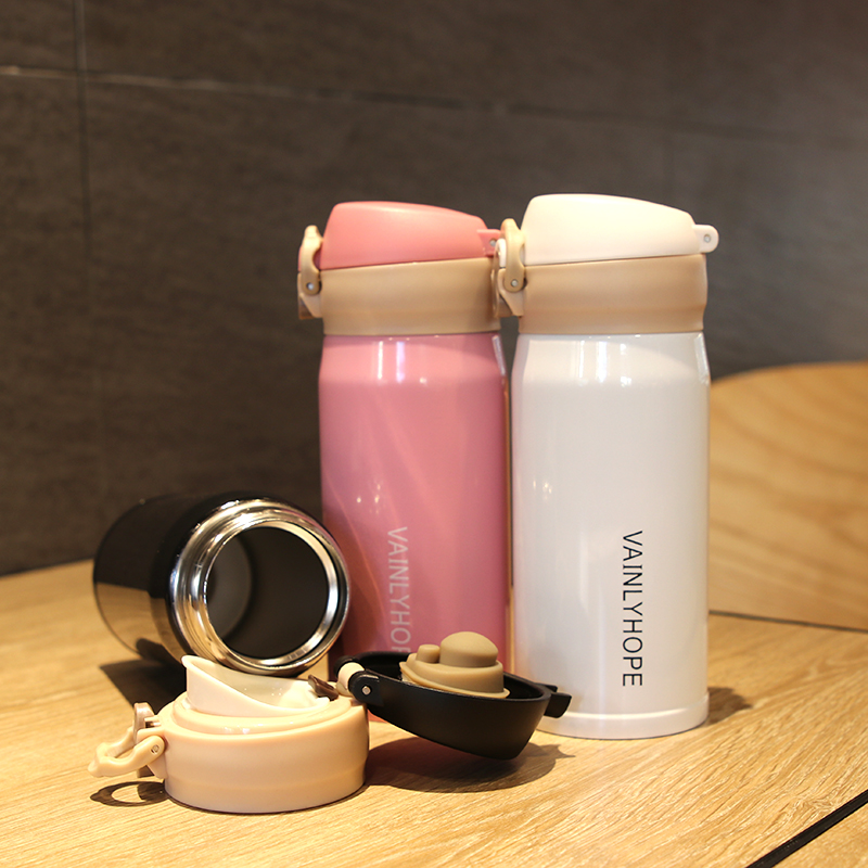 Personalized fashion portable mini creative with vacuum stainless steel insulation Cup, men and women student lovers cup