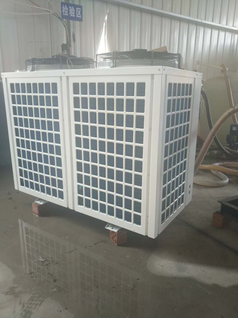 Special air energy water heater for coal to electricity direct cooling heating large scale hot water project