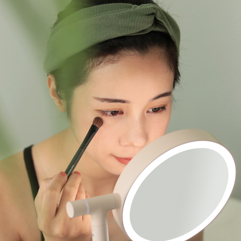 MUID flip - up mirror, high definition, flicker, LED makeup lamp, 3 times magnified chassis dresser