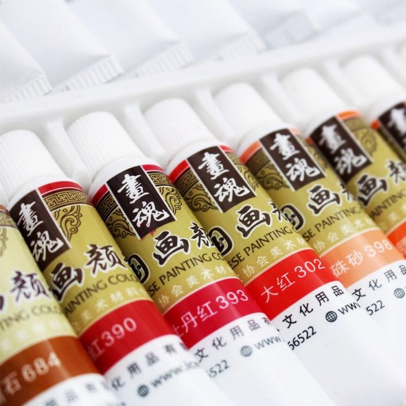 IL dipinto, dipinto di calligrafia cinese rivestiti di inchiostro per 12 strumenti di pigmento di Colore - Colore 24