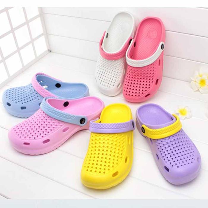 包头镂空两用塑料沙滩鞋防水防滑懒人大头凉拖鞋男女医用洞洞鞋夏